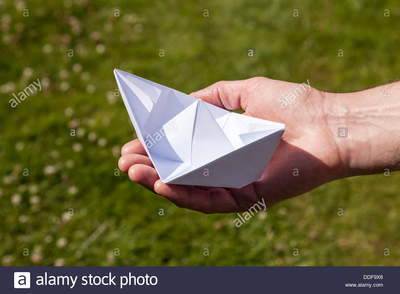 Origami - Papierboot Stockbild