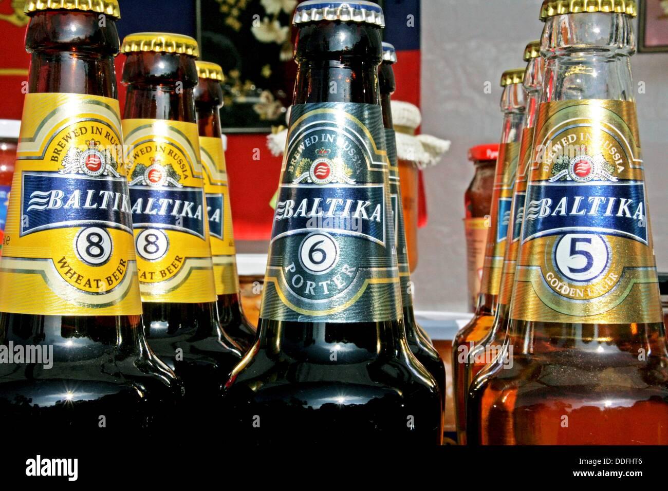 Biere gebraut in Russland, Getränke Stockfoto, Bild: 59964918 - Alamy