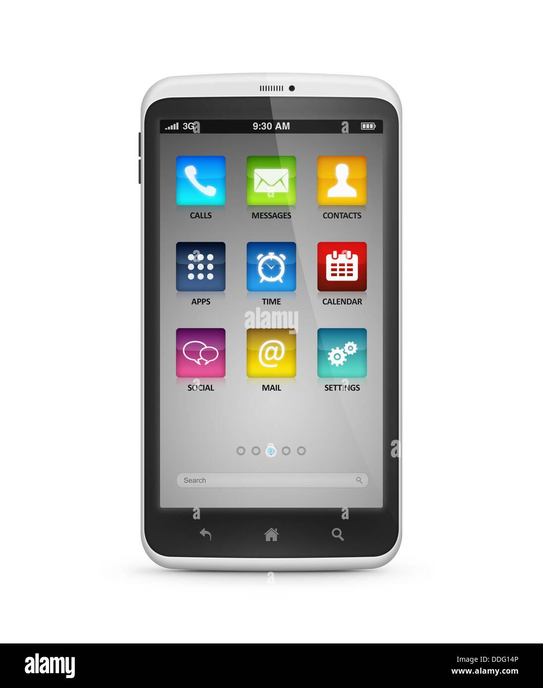 Mobile Smartphone isoliert Stockbild