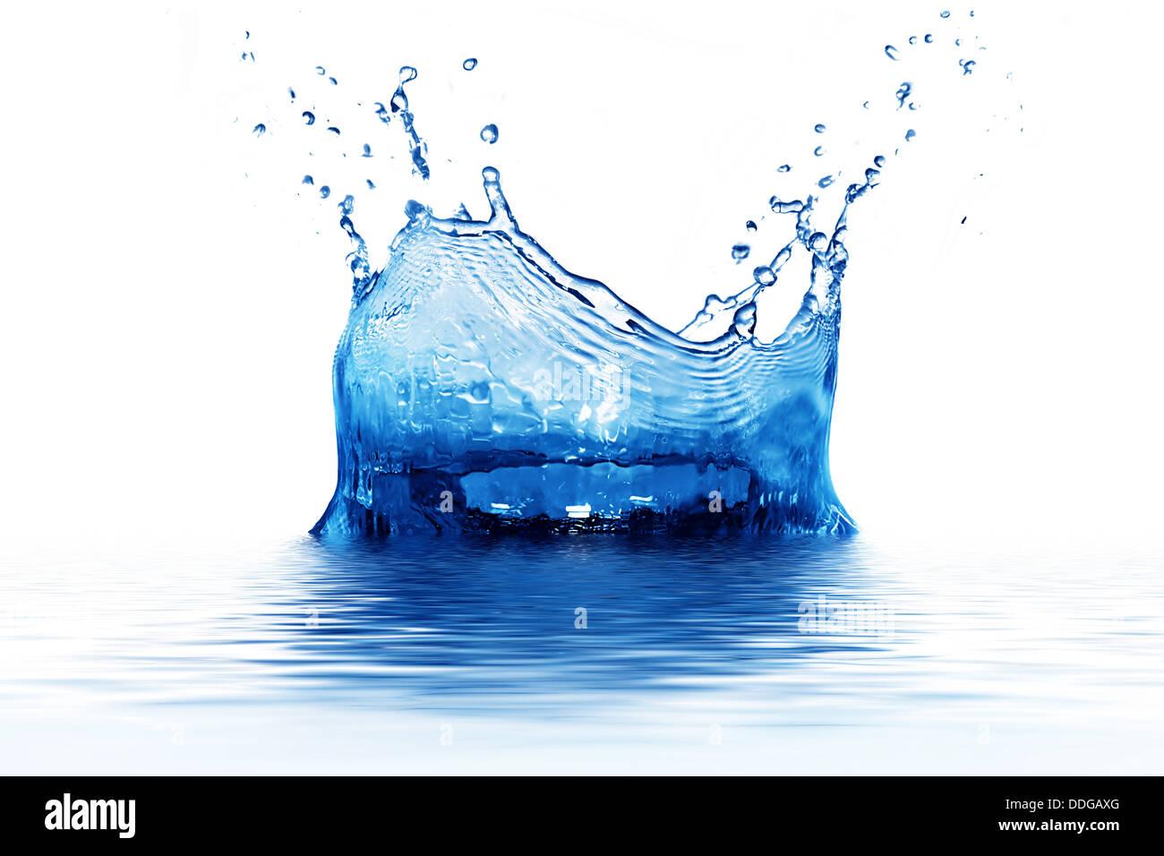 Spritzwasser Stockbild