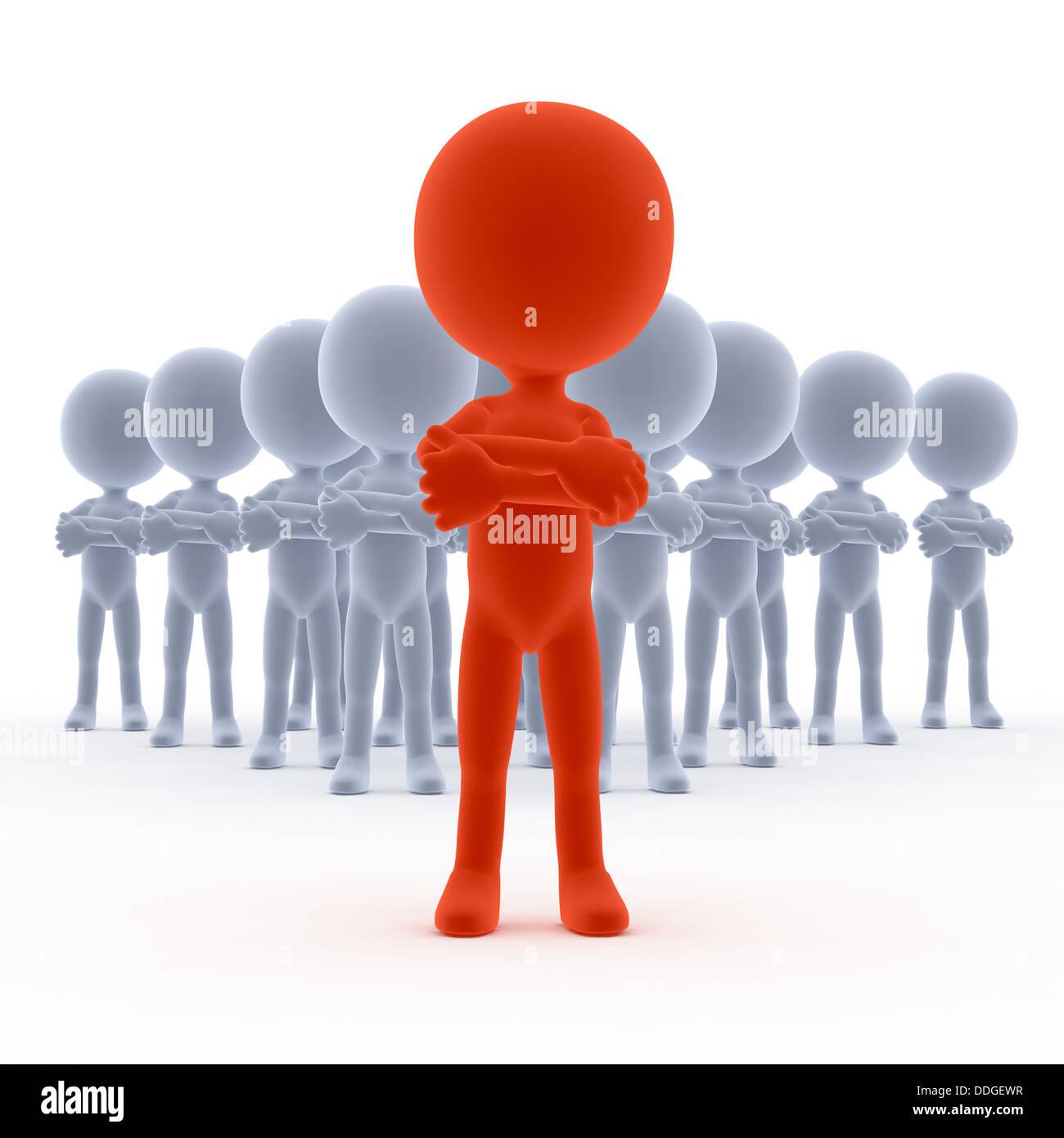 Führung / team Leader Konzept Stockbild