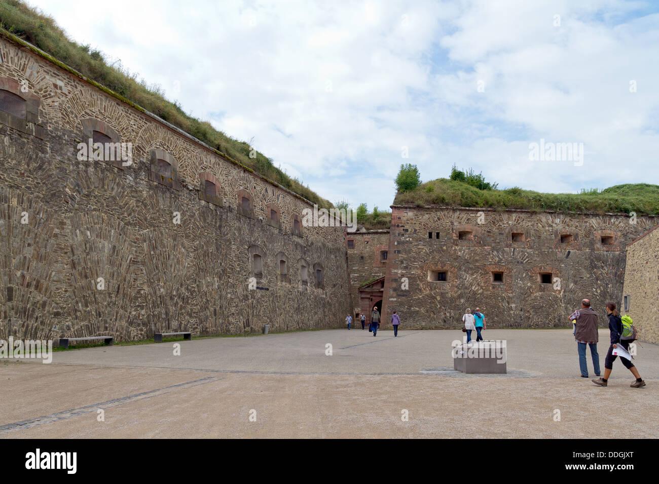 Festung Ehrenbreitstein in Koblenz, Deutschland Stockbild