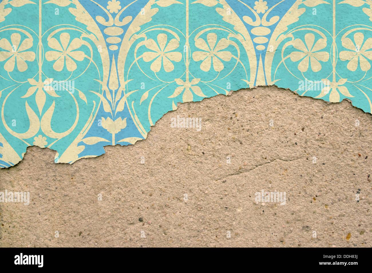Einer Alten Steinmauer Mit Peeling Putz Und Tapeten