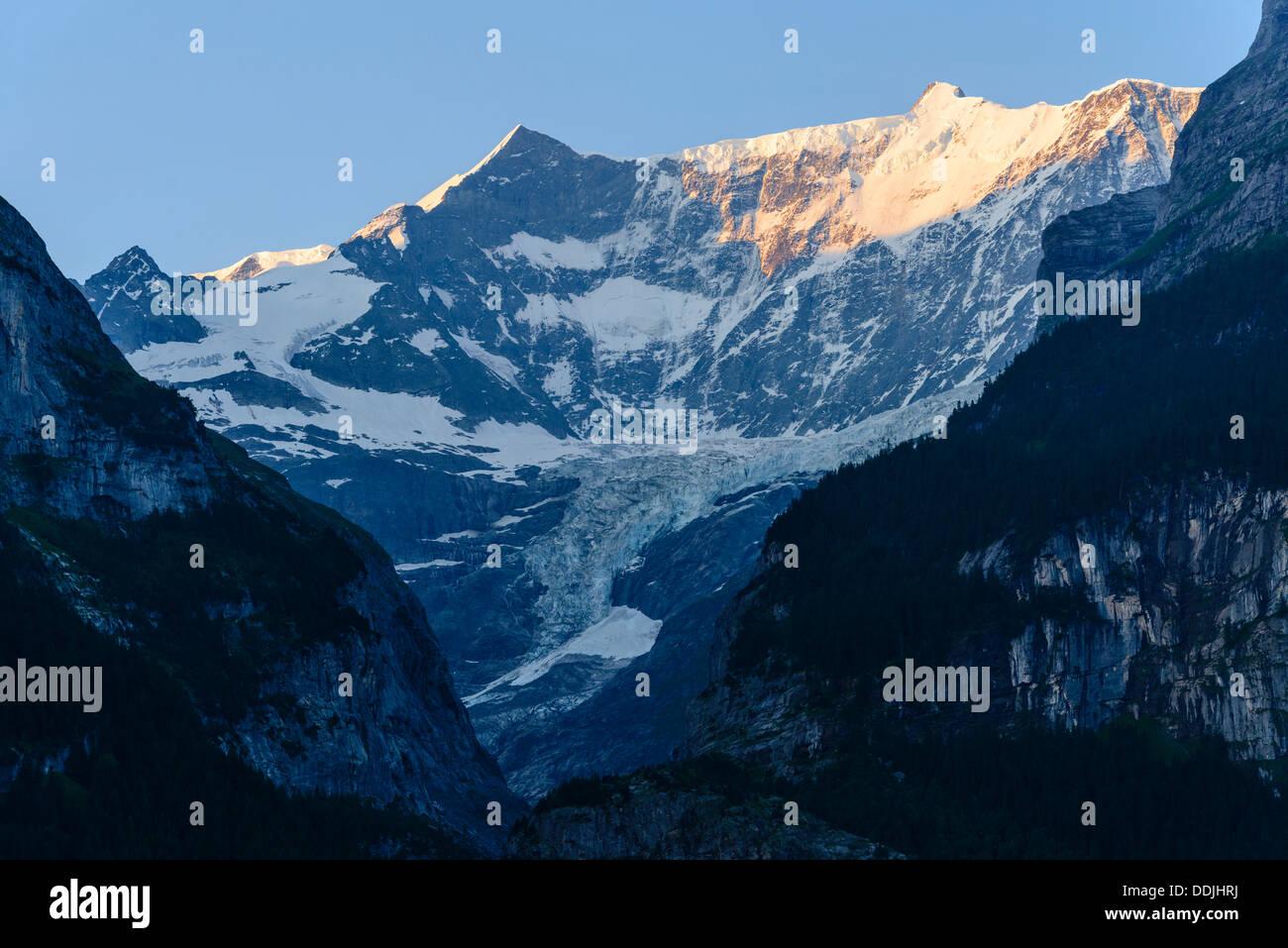 Das Fiescherhorn von Grindelwald, Schweiz Stockbild