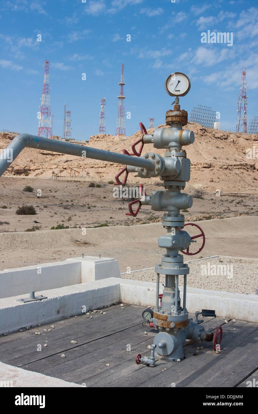 Ölquelle Nummer 1, Bahrain Stockbild