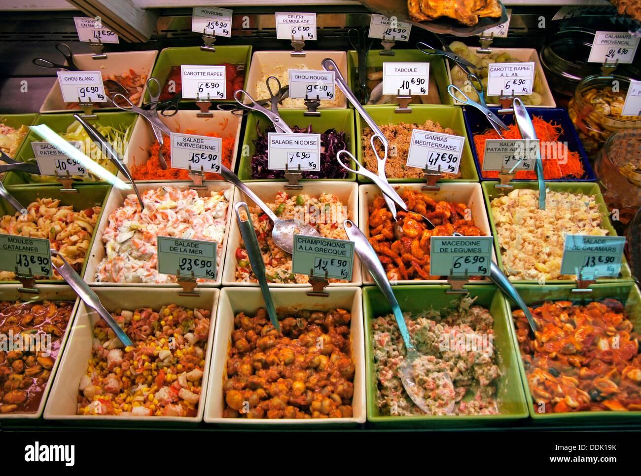 Zubereitung von Speisen in Bergerac, Gers, Midi-Pyrenäen, Frankreich Stockbild