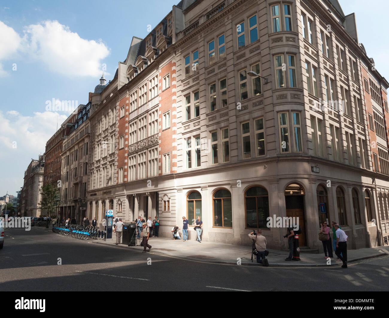 4. September 2013: Sonnenlicht reflektiert von der konkaven Gesicht der neuen Land Securities/Canary Wharf Wolkenkratzer Stockbild