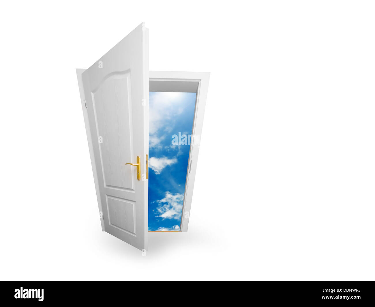 Neue Welt/Zukunft/Träume/Wünsche/Himmel offenes Konzept Stockbild