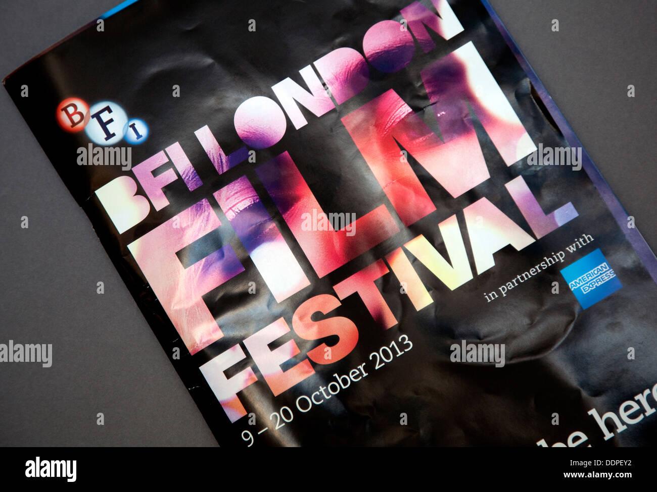BFI London Film Festival offizielle Programm 2013 Stockbild
