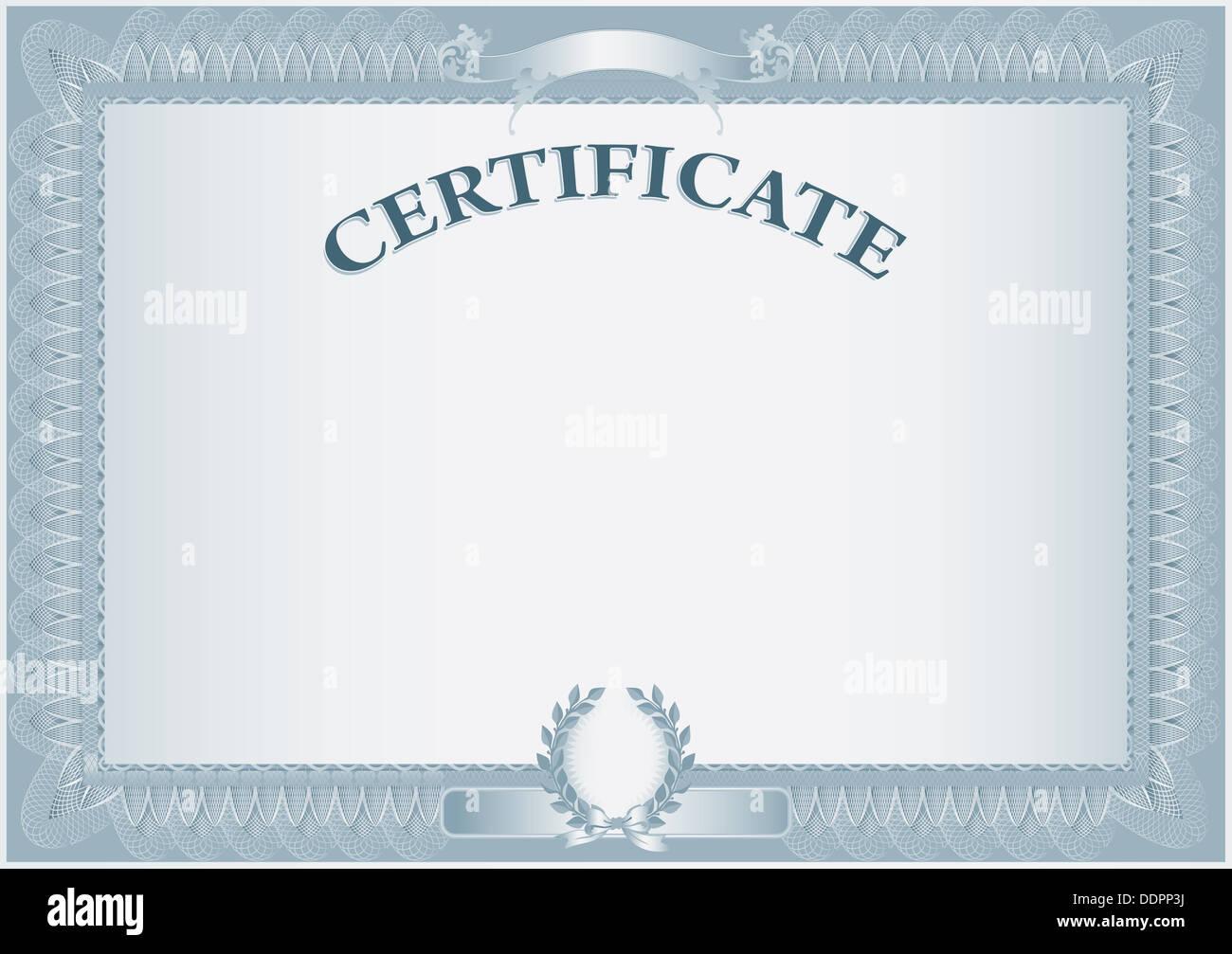 Leere Retro-Zertifikat-Vorlage Stockfoto, Bild: 60121926 - Alamy