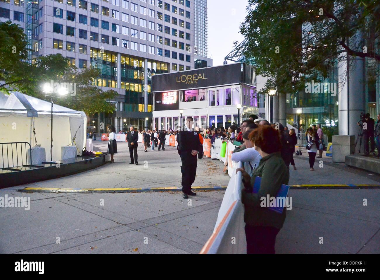 Toronto, Kanada. 05. Sep, 2013. TIFF ist heute eines der renommiertesten Veranstaltungen dieser Art in der Welt. Stockfoto