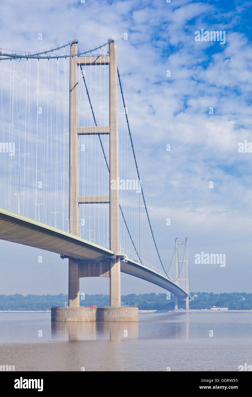 Humber Brücke über den River Humber Humberside Ost England UK GB EU-Europa Stockfoto