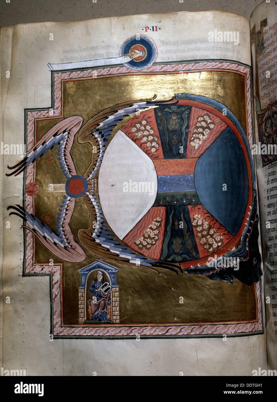 Beleuchtung von Hildegard von Bingen's Liber Divinorum Operum, 1165.  Künstler: Werner Forman Stockfoto