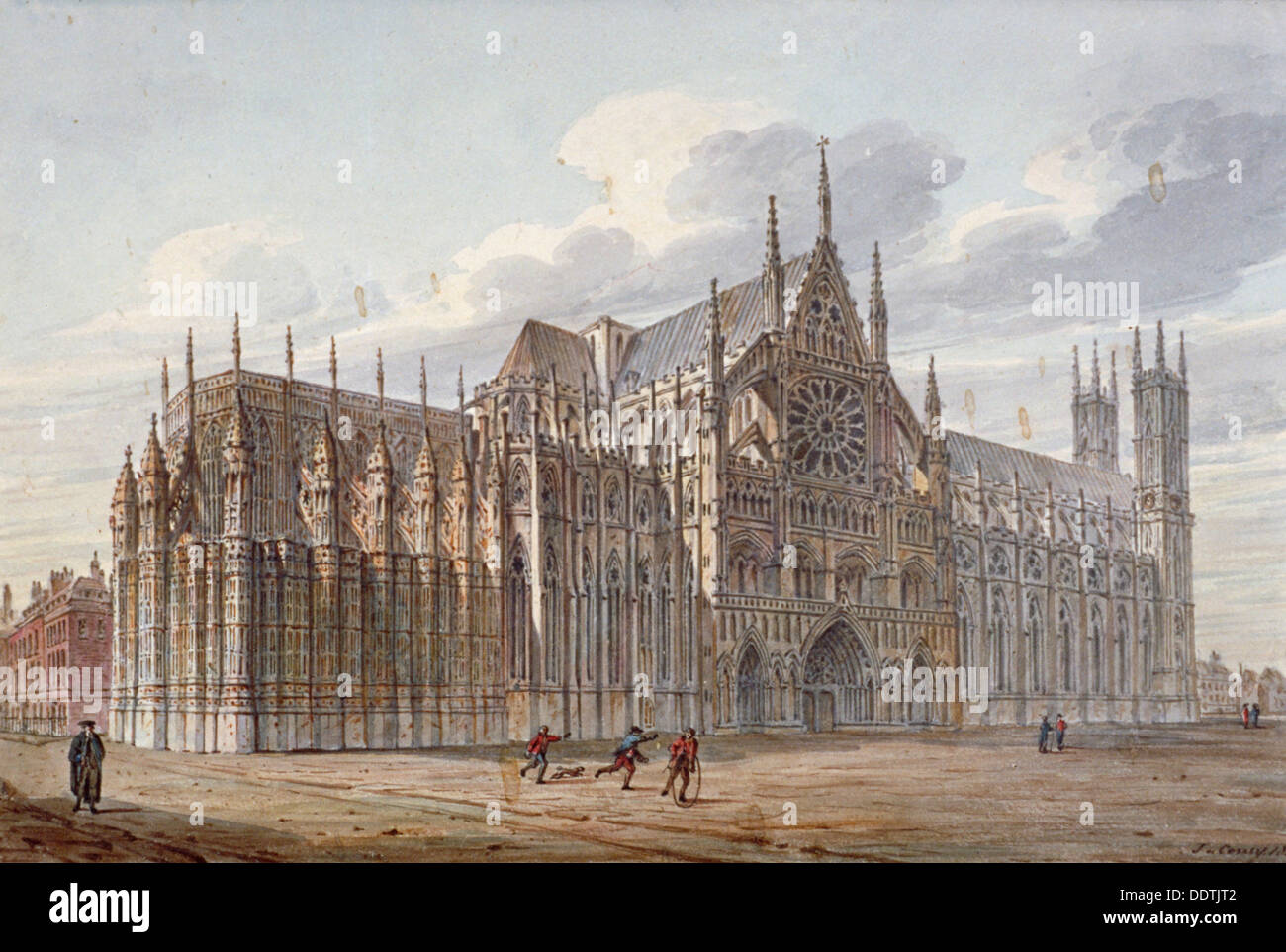 Westminster Abbey, London, 1816.                      Künstler: John Coney Stockbild