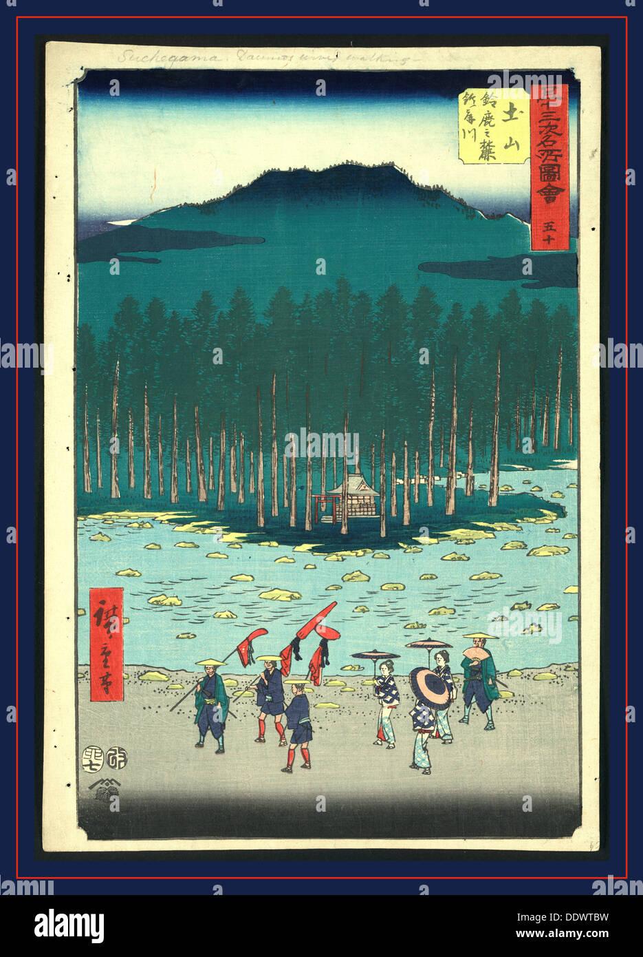 Tsuchiyama Ando Ca 1855 1 Print Holzschnitt Farbe 36 X 247
