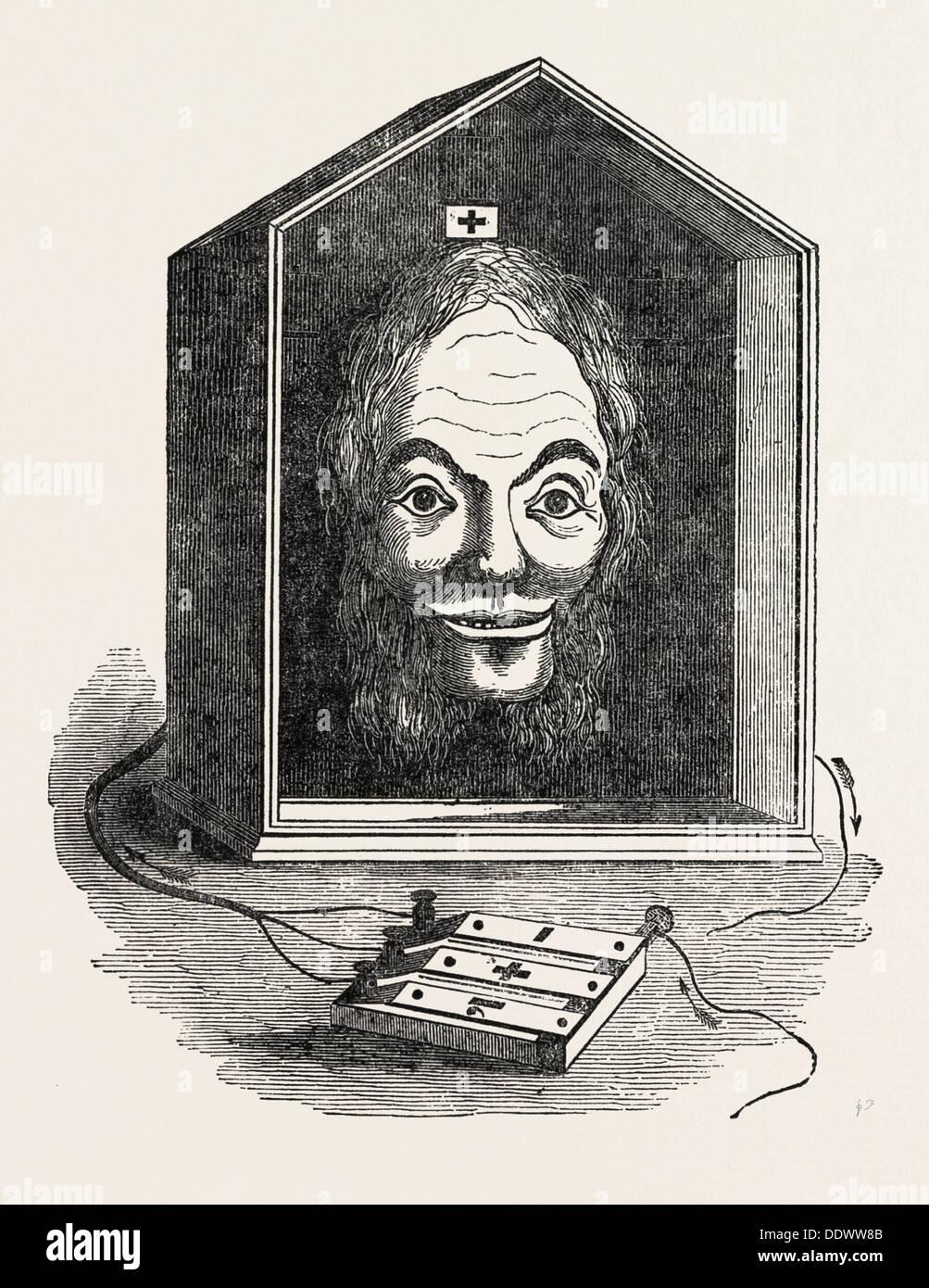 COMIC-ELEKTRISCHEN TELEGRAFEN DURCH G.R SMITH Stockbild