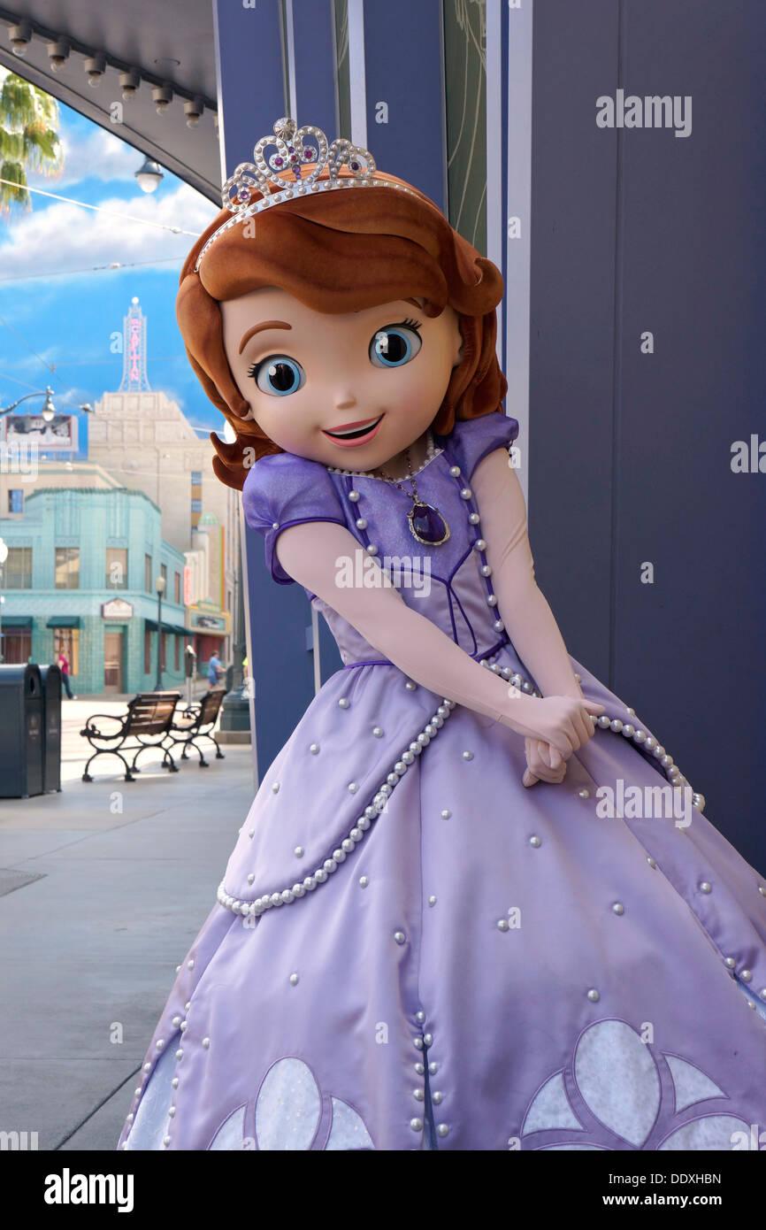 Sofia die erste, Prinzessin, Disney, Charakter, Disneyland, Anaheim, Kalifornien Stockbild
