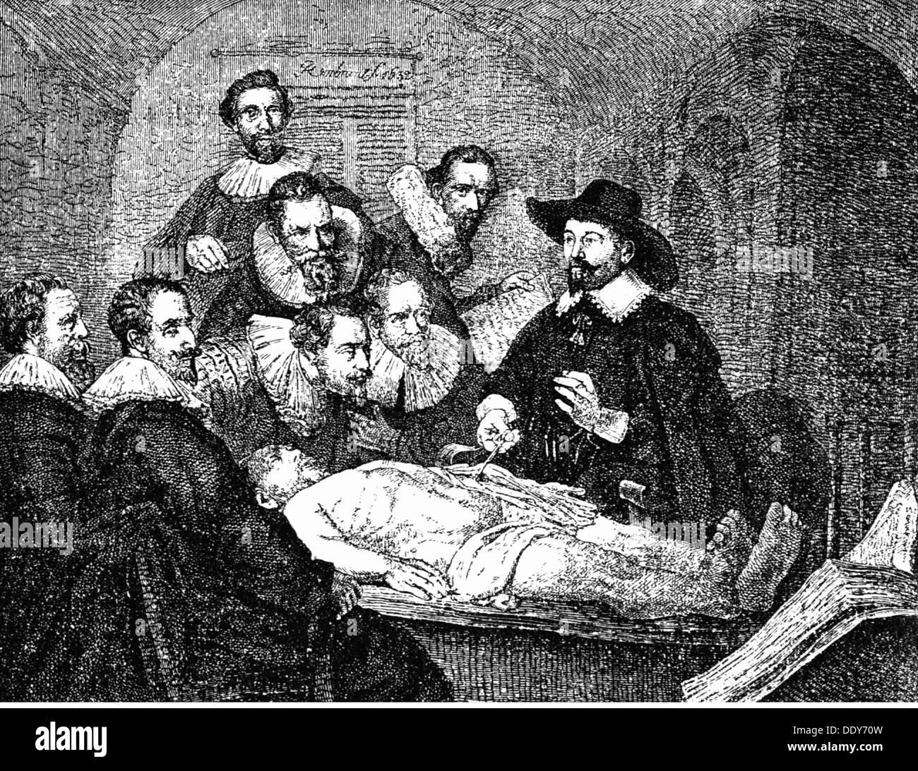 Medizin Anatomie Obduktion / Autopsie nach dem Gemälde \'Die Anatomie ...