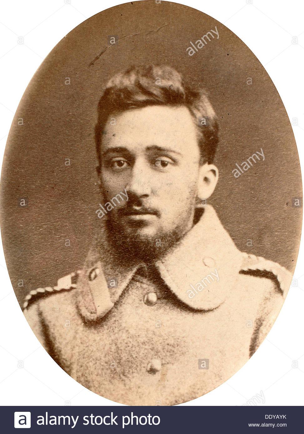 Vsevolod Garshin, russischer Autor, 19. Jahrhundert. Künstler: Engel Stockbild
