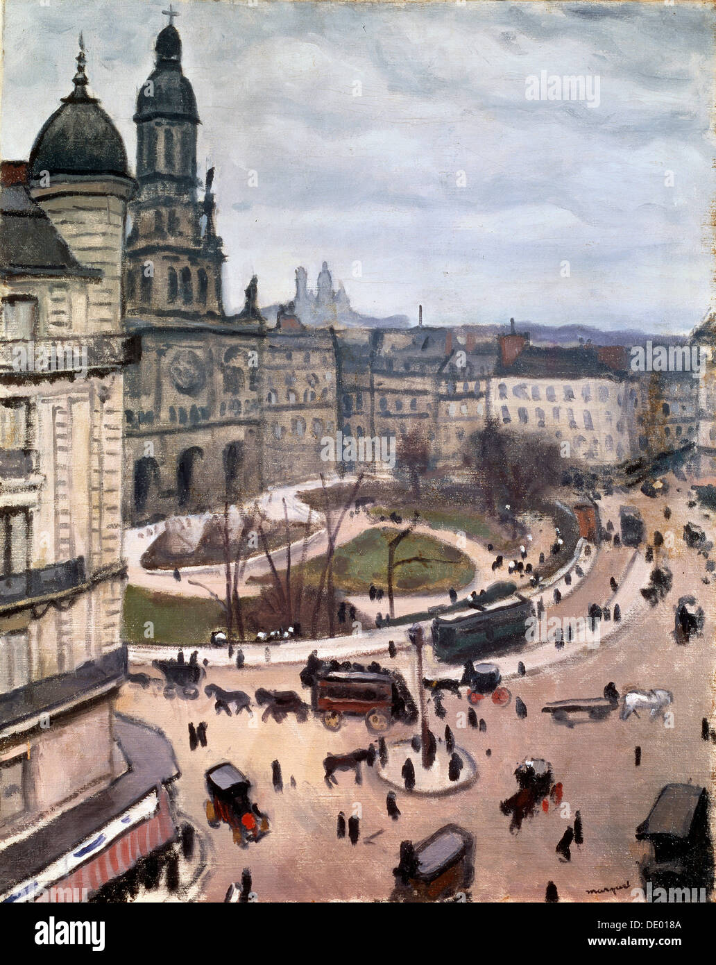 """Place De La Trinité in Paris"", 1911.  Künstler: Albert Marquet Stockbild"