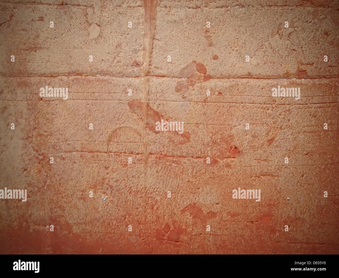 aus rotem Backstein Textur Makro Nahaufnahme detaillierte Kopie Raum Oberfläche Hintergrund Stockbild