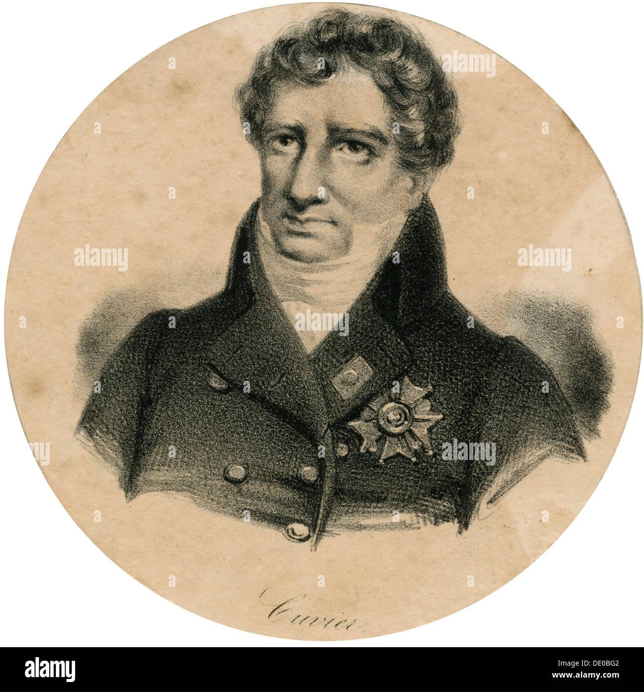 Georges Cuvier, 19. Jahrhundert französischer Zoologe und ...