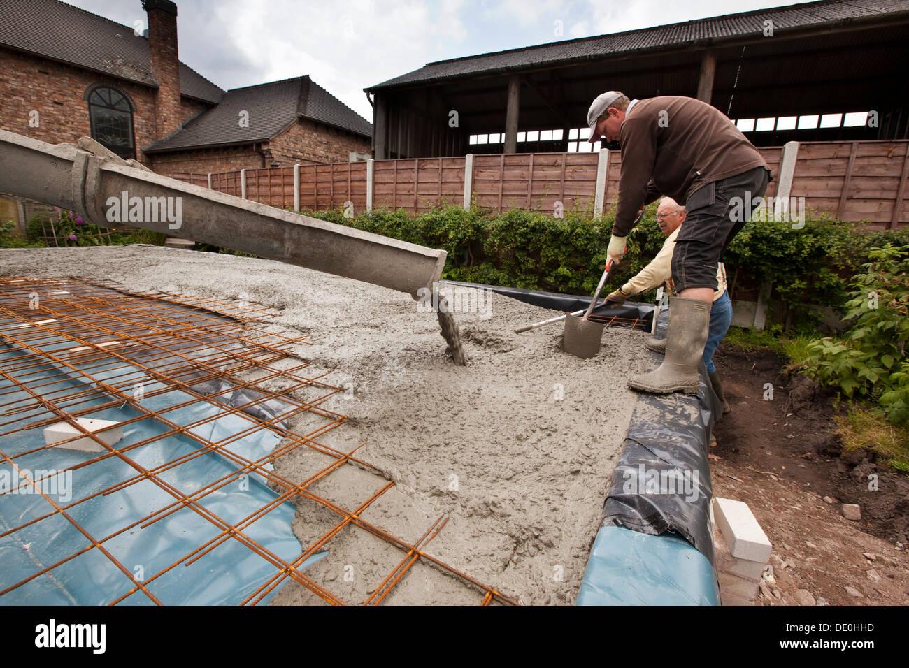 Selbst Hausbau Verstarkt Giessen Readymixed Konkrete Stahlnetz