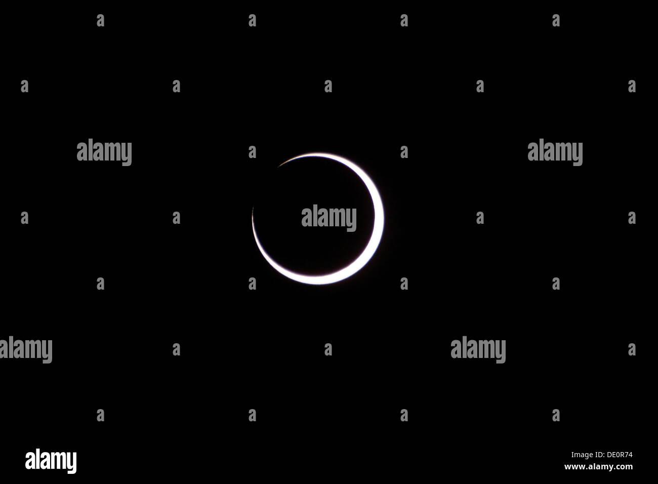 Ringförmige Sonnenfinsternis vom 20. Mai 2012 in den USA Stockbild