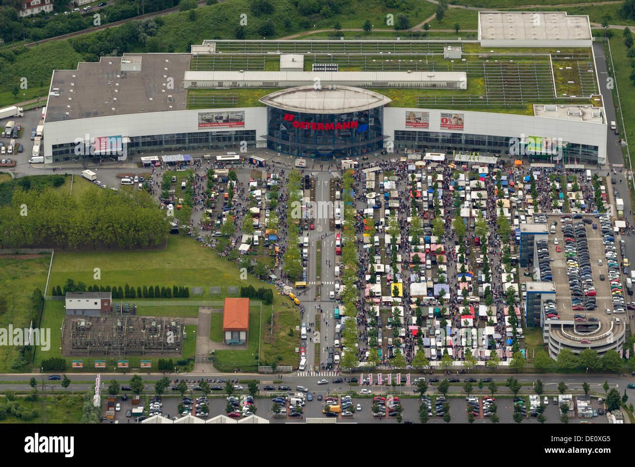 Luftaufnahme Flohmarkt Am Ostermann Möbel Shop Bottrop Ruhrgebiet
