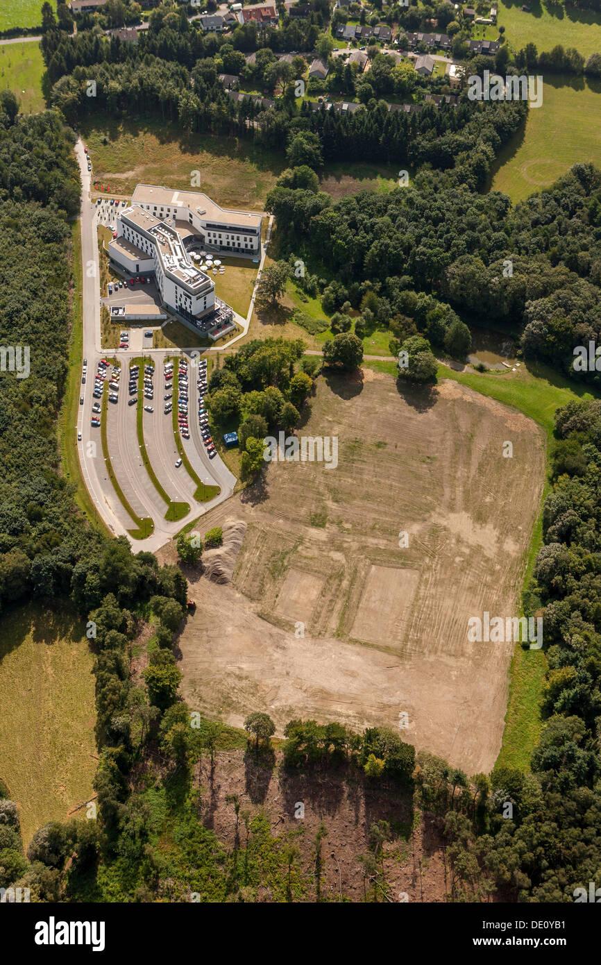 Antenne zu sehen, IG Metall Bildung Zentrum, Sprockhoevel, Ruhrgebiet, Nordrhein-Westfalen Stockbild