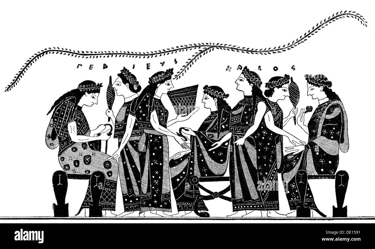 Frauen kleidung im alten griechenland