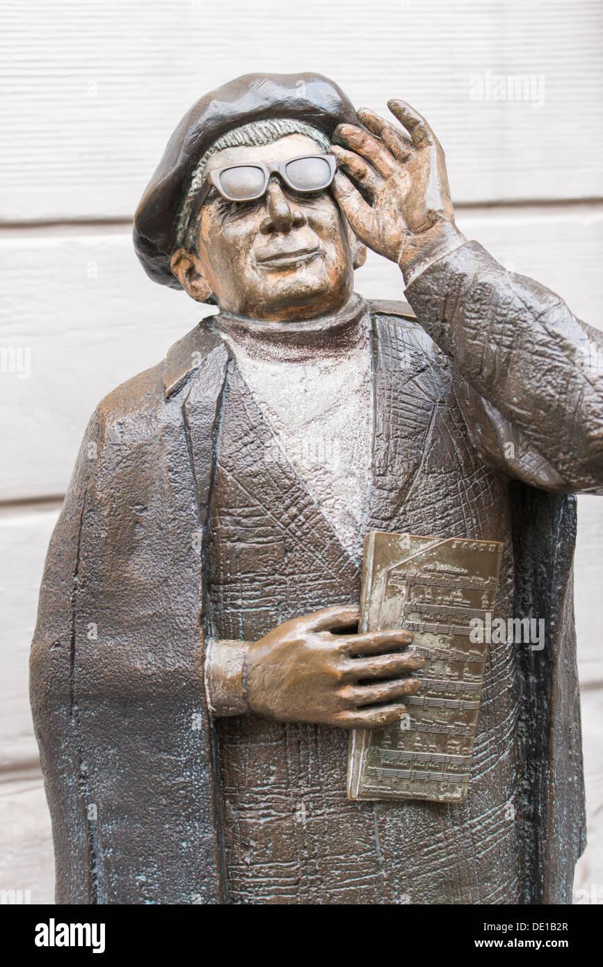 Skulptur Des Musikers Evert Taube In Stockholm Schweden Stockfotografie Alamy
