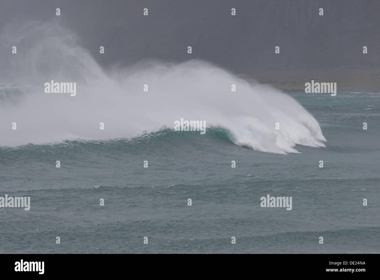Ozean, Meer, Brandung, Welle, Wellenbrecher, Wellen, Brandung, Gischt, Meer, Flut, starker Wellengang, Wellen, Welle, Stockbild