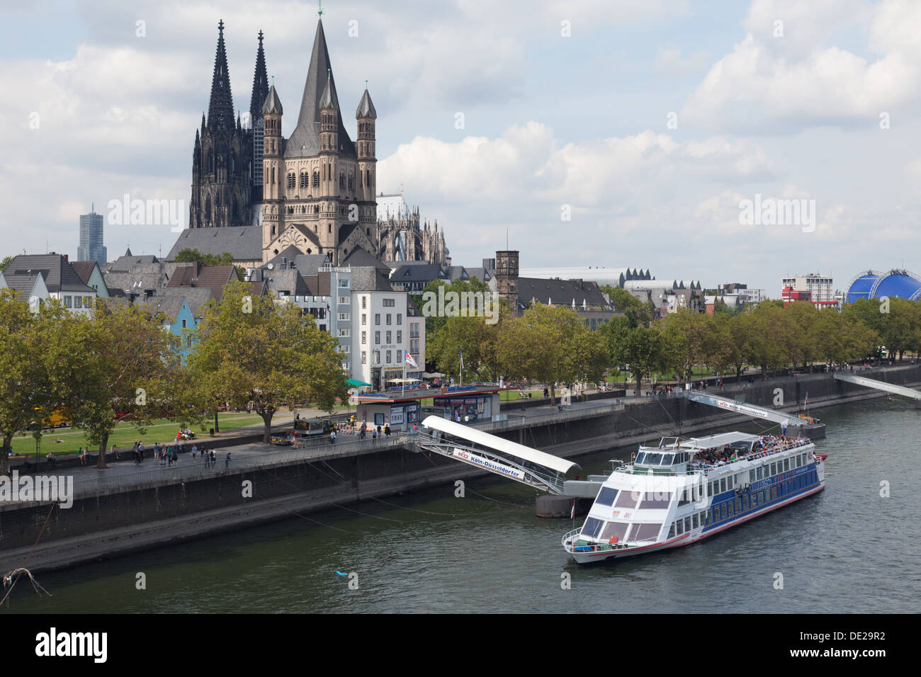 riverside bekannt als am leystapel in k ln k ln deutschland stockfoto bild 60287894 alamy. Black Bedroom Furniture Sets. Home Design Ideas