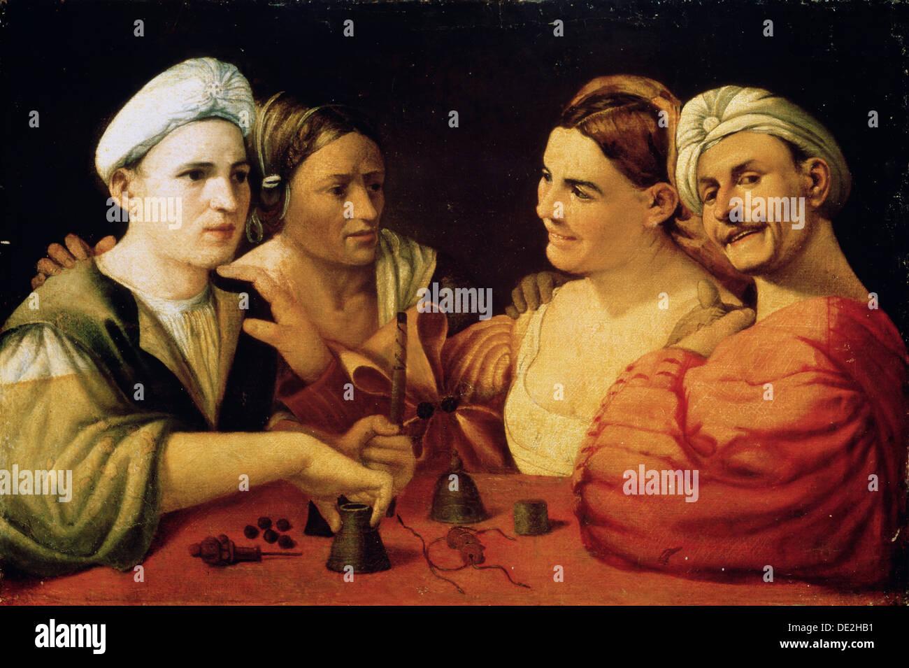 """""""Gaukler"""", aus dem 16. Jahrhundert. Künstler: Dosso Dossi Stockbild"""
