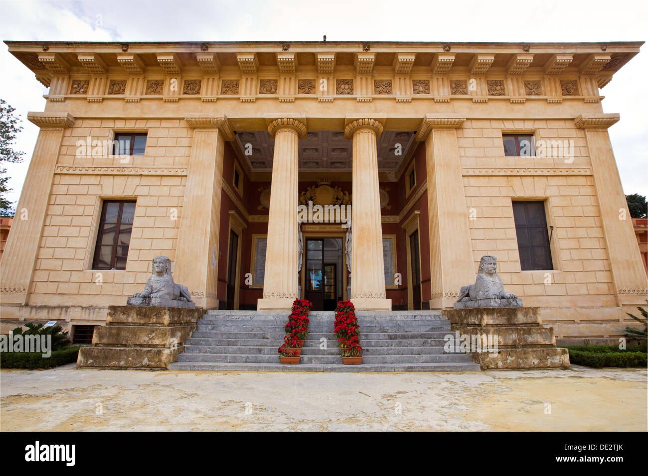 Palermo Botanischer Garten und ein Forschungs- und Bildungseinrichtung der Abteilung für Botanik an der Universität Stockfoto