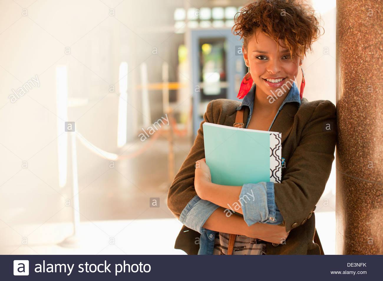 In der schule aus einem high-school-mädchen