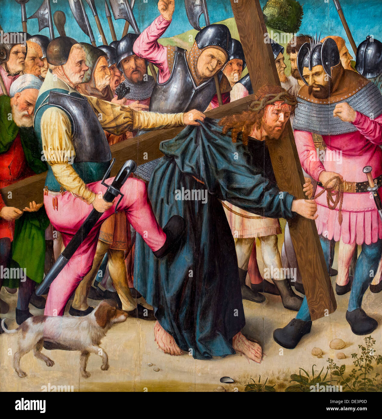 16. Jahrhundert - der Aufstieg des Kalvarienberges, um 1505 - Meister der Pieta von Saint Germain des Prés Stockbild