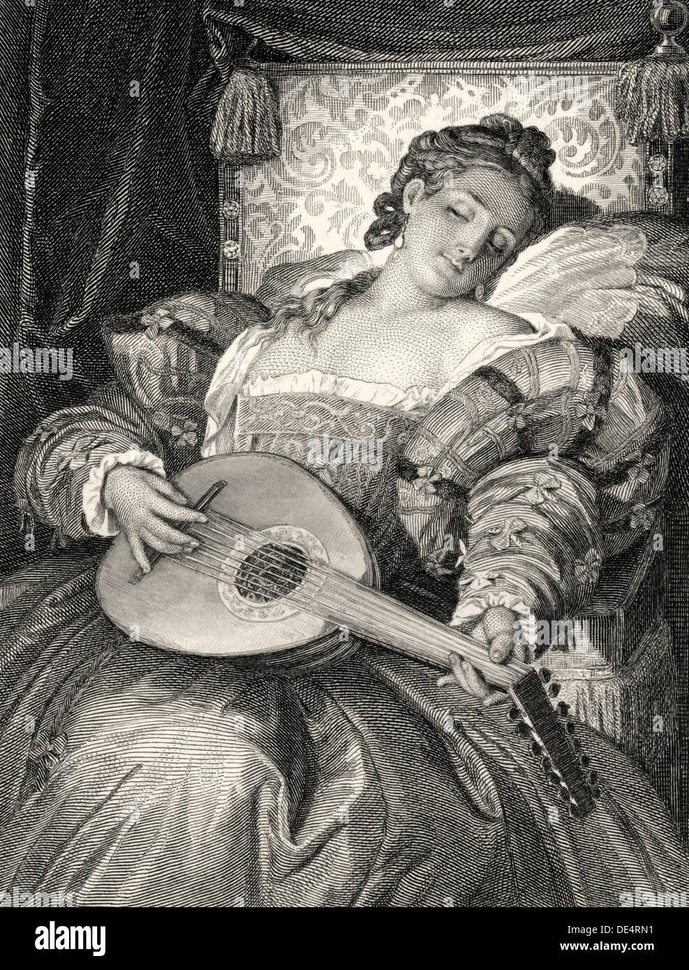 Doña Ana de Mendoza y De La Cerda, Prinzessin Eboli Charakter aus dem Drama Don Carlos oder Don Karlos von Friedrich Schiller Stockbild