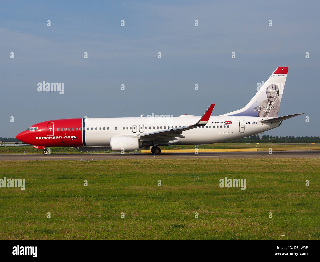 LN-DYZ Norwegian Air Shuttle Boeing 737-8JP(WL) - Cn 39013, Rollen 22july2013-003 Stockbild