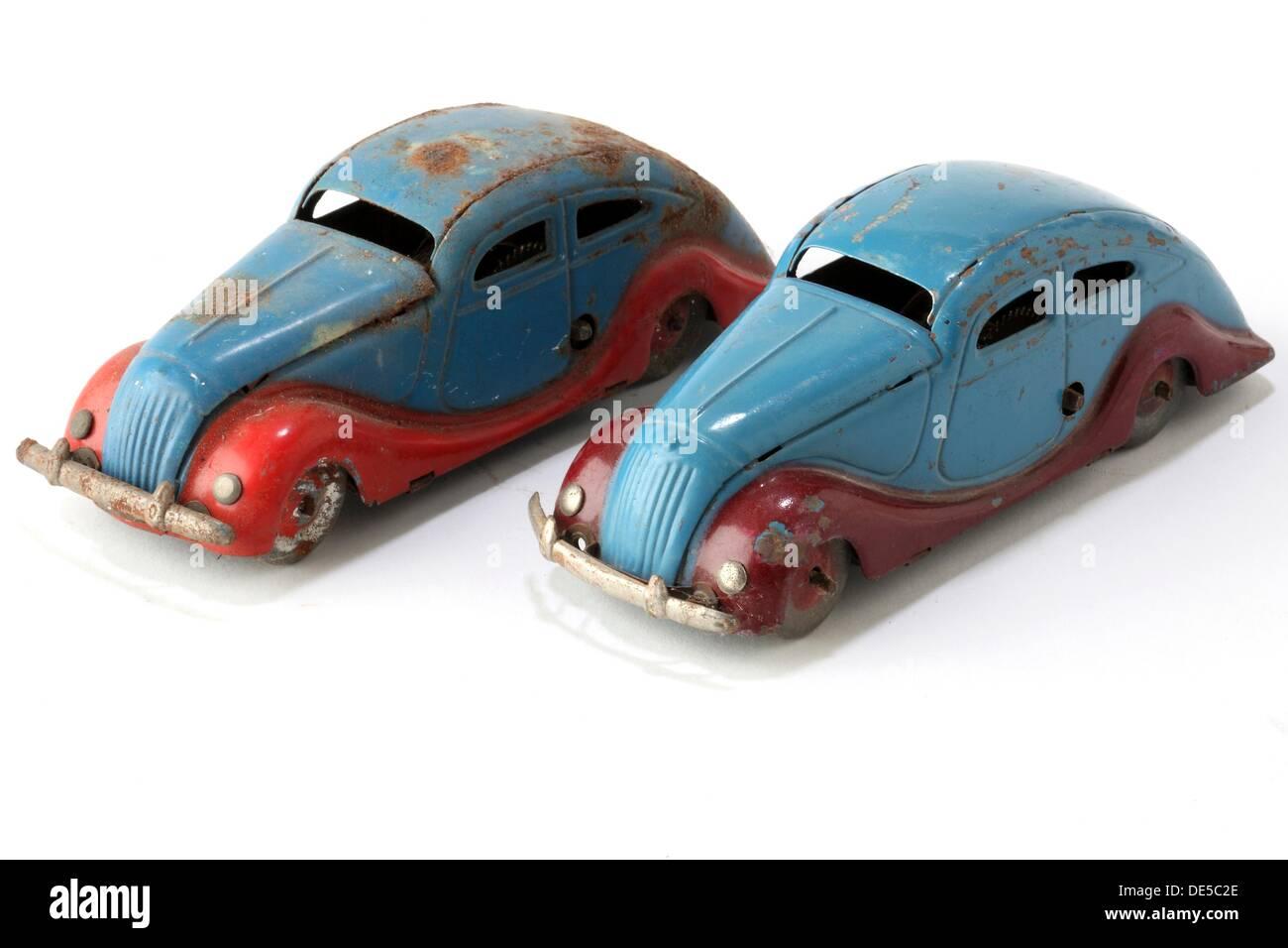 Vintage Spielzeug, Spielzeugauto, hergestellt möglicherweise Jyesa Spielzeug, Ibi, Alicante, Valencia, Spanien, Europa, 40er Jahre Stockbild