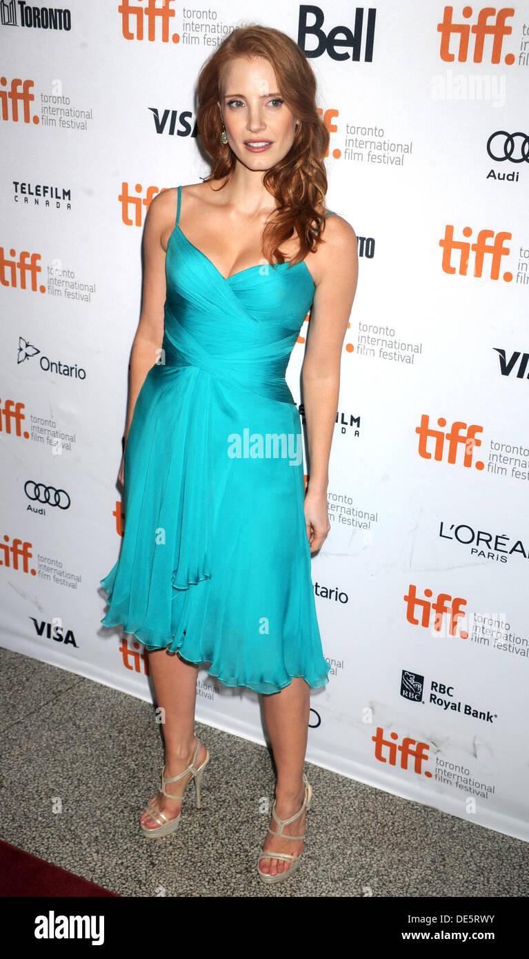 """Jessica Chastain Bei der Premiere von """"The verschwinden von Eleanor Rigby: und ihn"""" Auf Dem 38. Toronto International Filmfestival / TIFF, 09.09.2013 Stockbild"""