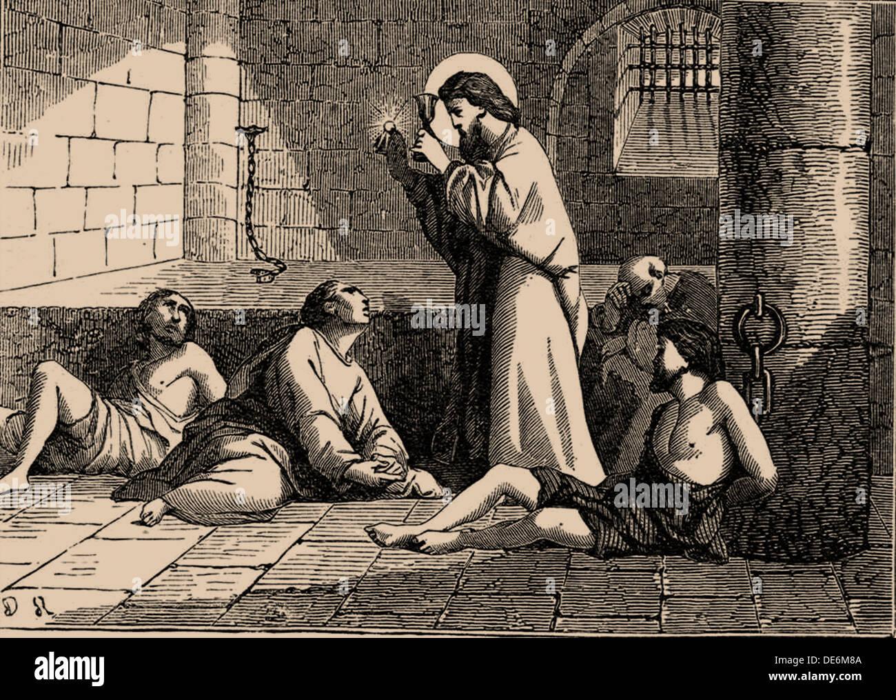 Sankt Valentin, 19. Jahrhundert. Künstler: anonym Stockbild