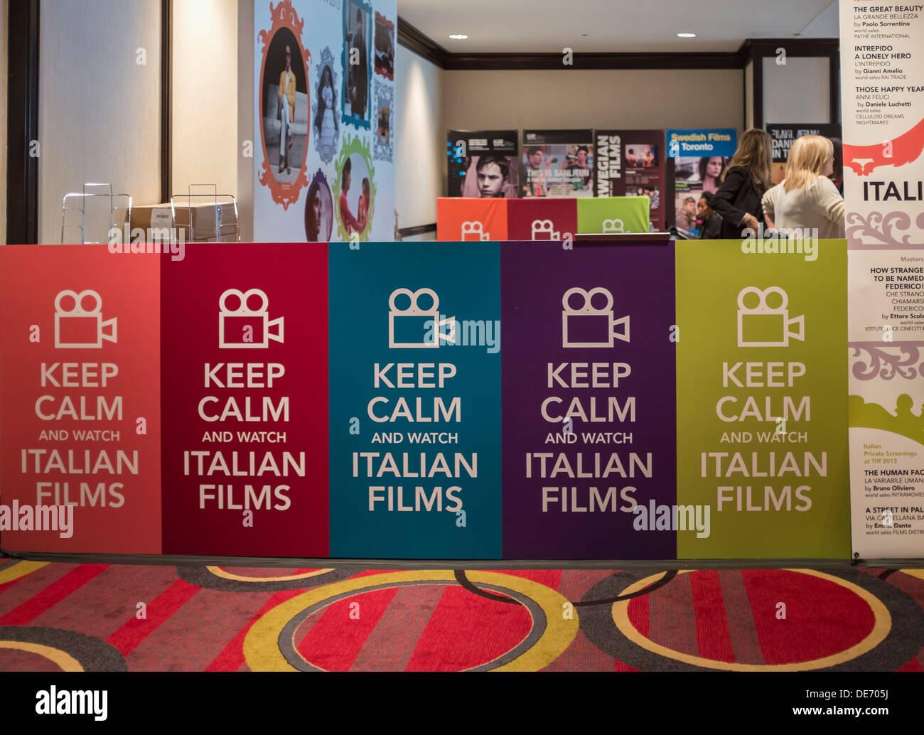 Italienischer Film Promotion bei TIFF Bell Lightbox während 2013 Toronto International Film Festival Stockbild