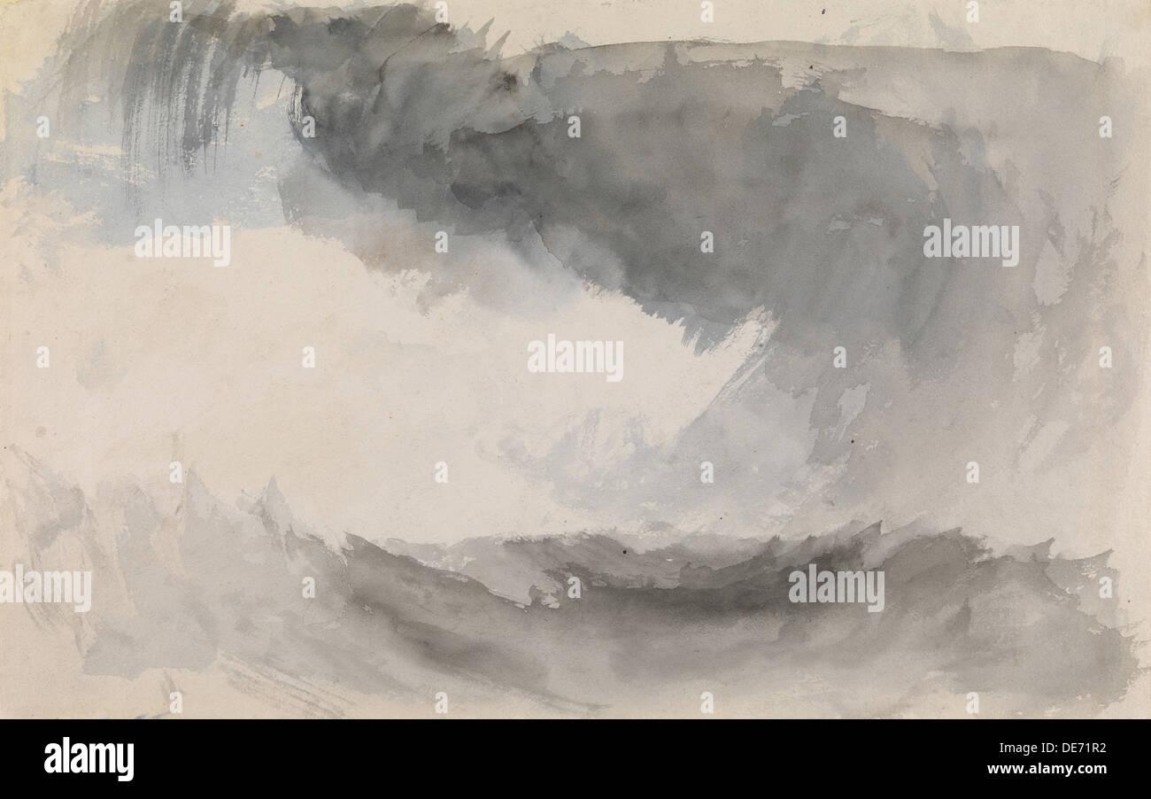 Ein Sturm auf dem Meer. Künstler: Turner, Joseph Mallord William (1775-1851) Stockfoto