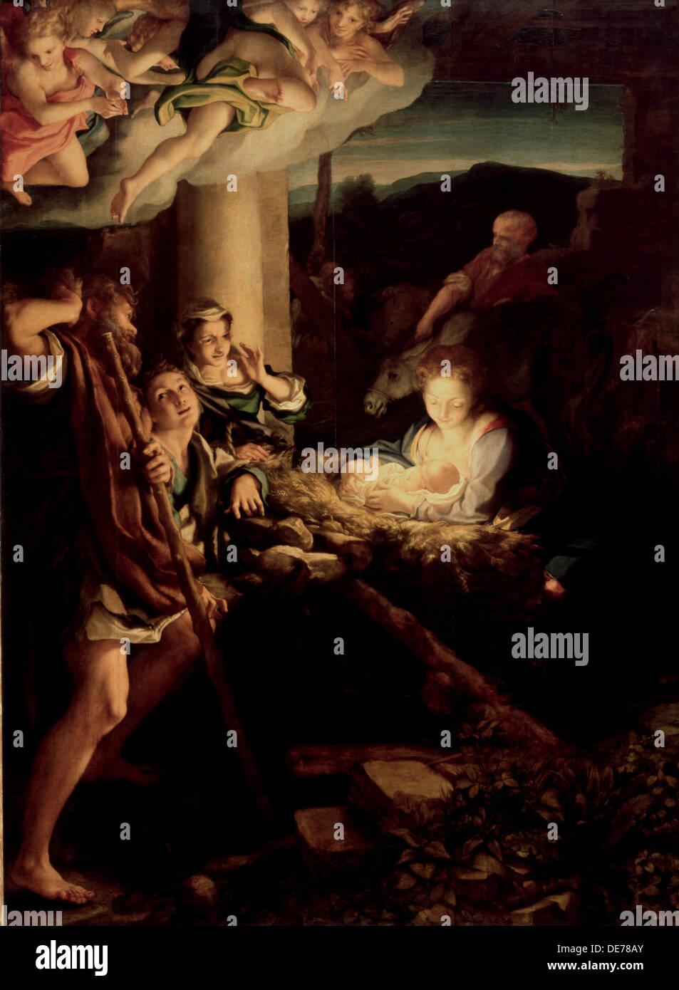 Die Heilige Nacht, 1527-1530. Künstler: Correggio (1489-1534) Stockbild