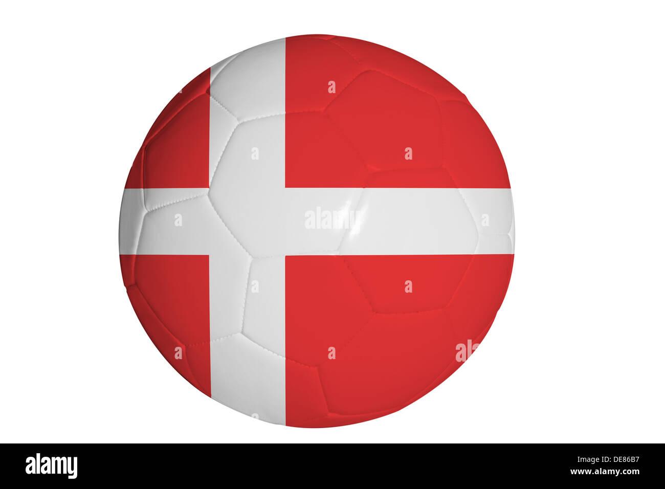 Danische Flagge Grafik Auf Fussball Stockfoto Bild 60416923