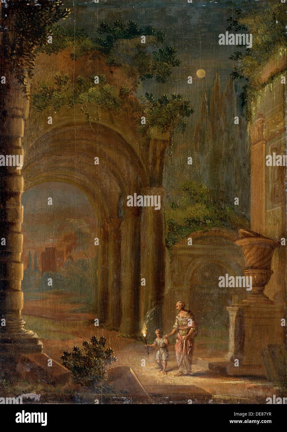 """Landschaft"", Ende des 16. Jahrhunderts. Künstler: Adam Elsheimer Stockbild"