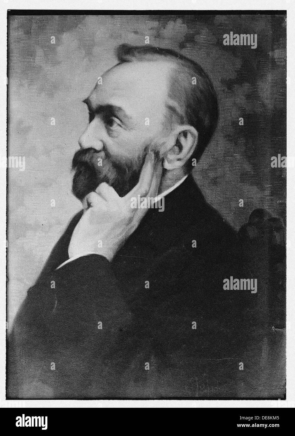 Alfred Nobel. Künstler: anonym Stockbild