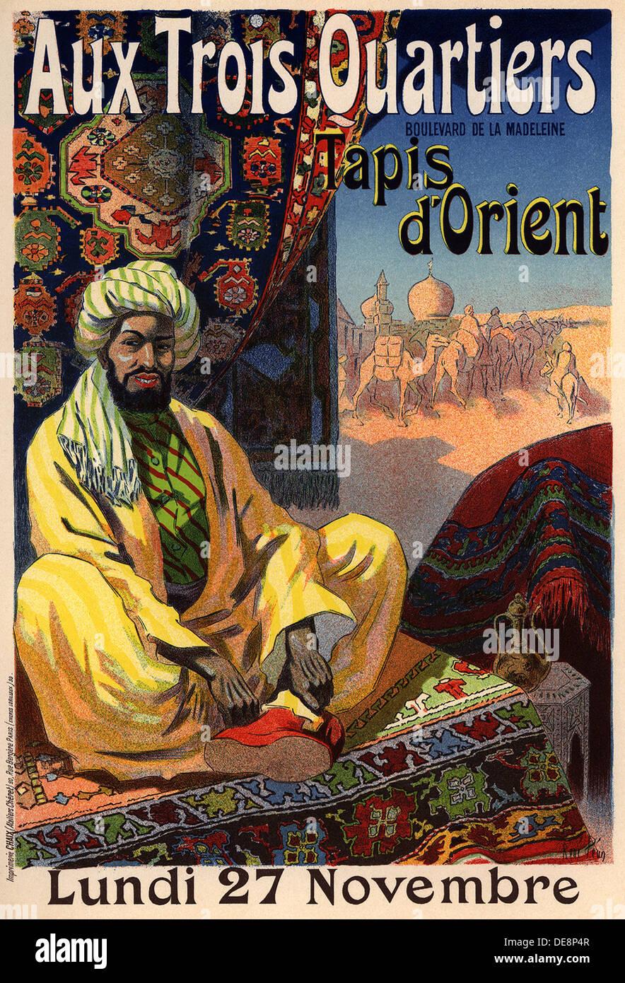 Trois Quartiers - Tapis d'Orient (Poster), 1890. Artist: Péan, René Louis (1875-1945) Stockfoto
